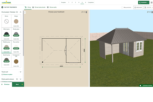 lugarde configurator design your own summerhouse and log cabin